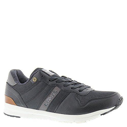 Levis Men's Baylor Denim Sneaker, Black/Charcoal, 9 M US