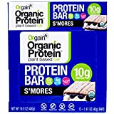 Orgain Organic Protein Bar, S'mores, 12 Count