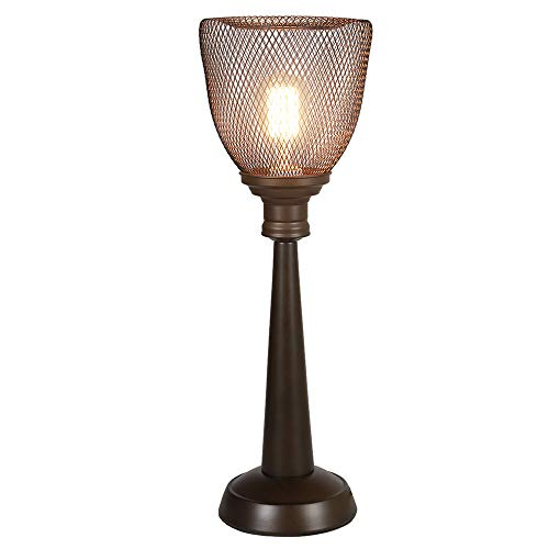 Table Scroll Lamp Antiqued - MY CANARY Vintage Wrought Iron Birdcage Art Modern Table Lamps, Iron Wire Cage Desk Lamp, Bedroom Light Fixtures Lighting