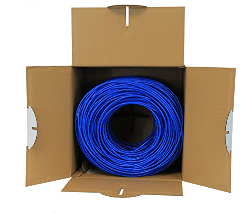 Cat6 Plenum (CMP), 1000ft, Blue, Solid Bare Copper Bulk Ethernet Cable, 550MHz, ETL Listed, 23AWG 4 Pair, Unshielded Twisted Pair (UTP), trueCABLE 5 HIGH PERFORMANCE NETWORK CABLE. This plenum rated cat 6 lan cable is 23 AWG with 4 pairs (8C). Suitable for Fast, Gigabit, and 10-Gigabit Ethernet. Supports bandwidth of up to 550 MHz. HASSLE FREE PACKAGING. 1000 feet (305 meters) of our trueCABLE product has been packaged in a tangle free, easy pull box so you don't have to worry about getting behind on your next job. 100% SOLID BARE COPPER CONDUCTORS. Pure bare copper produces a stronger signal along with better conductivity and flexibility when compared to copper clad aluminum (CCA).