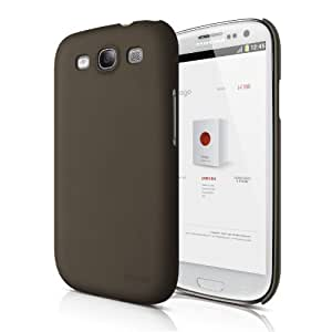 elago G5 Slim Fit Case for Galaxy S3 (Fits Verizon, AT&T, T-Mobile, Sprint and other Carriers) - Soft Feeling Chocolate - ECO PACK