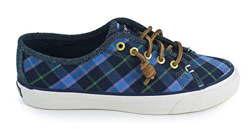 Sperry Seacoast Boyfriend Ultramarine Plaid Sneaker Canvas Shoes 6.5