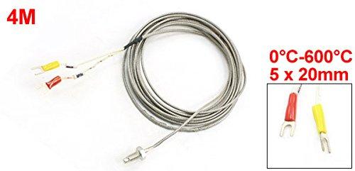 0-600 C 13.1 13.1/' a13091600ux1145 Uxcell WRX-31 6 mm Thread E Type Temperature Sensor Thermocouple