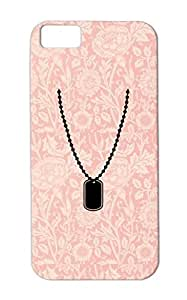 Necklace War Dog Soldier Tag Military Chain Peace Dogtag Army Careers Professions Black Cover Case For Iphone 5c