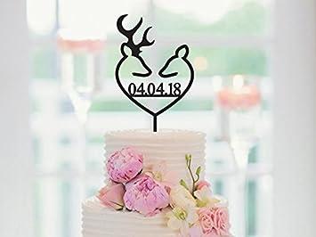 Reh Hochzeit Tortenaufsatz Personalisierbar Tortenaufsatz Mit