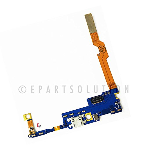 Lg Connector (ePartSolution-LG G Vista D631 Charger Charging Port Flex Cable Dock Connector USB Port With Mic Microphone Flex Cable Replacement Part USA Seller)