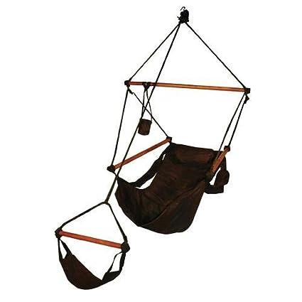 Charmant Hammaka Hanging Hammock Air Chair, Wooden Dowels, Black