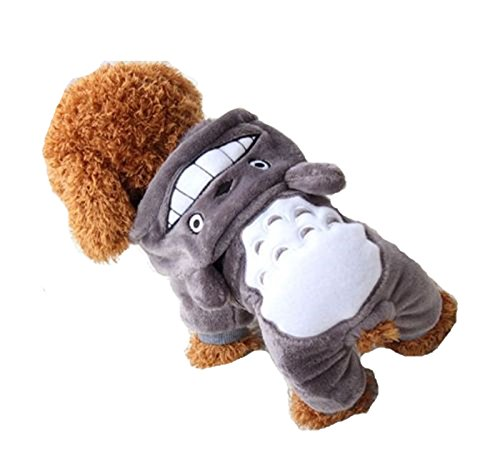 Chicpaw Pet Dog Coat Hoodie Cat Puppy Sweater Clothes Totoro Pikachu Dinosaur Panda Jumpsuit Cartoon Costume Apparel (XL(Length:15.8