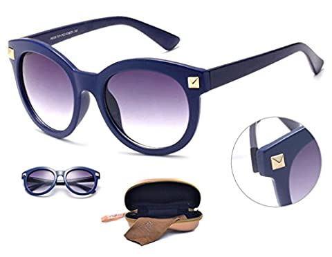 Dasein Classic Retro Vintage Polarized Wayfarer Lightweight Unisex Sunglasses Eyeglasses UV 400 - Eyeglasses Light Blue Frame