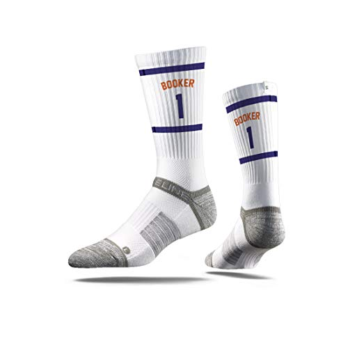 Strideline NBA Phoenix Suns Devin Booker Jersey Premium Athletic Crew Socks, One Size -