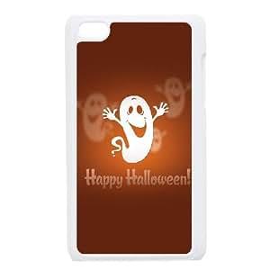 Cute TPU Happy Halloween Cute Ghost iPod Touch 4 Case White