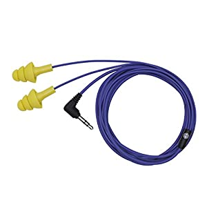 Plugfones Basic Earplug-Earbud Hybrid - Blue Cable / Yellow Plugs