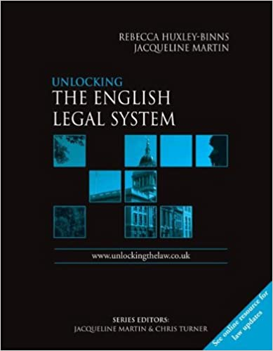Book Unlocking The English Legal System (Unlocking the Law)