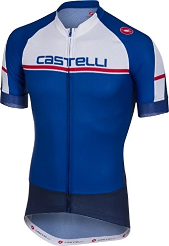 Castelli Distanza Full-Zip Jersey - Men's Surf Blue, L