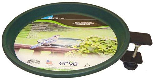 Erva BA1SL Bird Bath - Clamp Mount - Black Wire Ring with Forest Green Dish