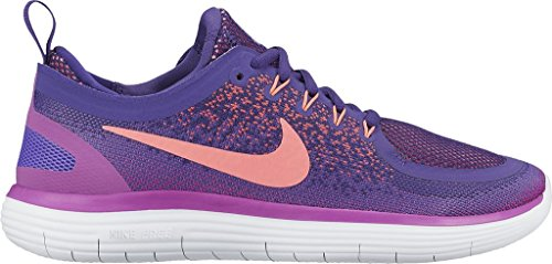 the latest 2d0ca 58e7f Galleon - Nike Women s Free RN Distance 2 Running Shoe HYPER GRAPE LAVA GLOW -COURT PURPLE 7.5