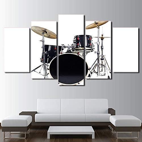 mmwin Canvas s Wall Art HD Prints 5 Unidades Instrumento de Música ...