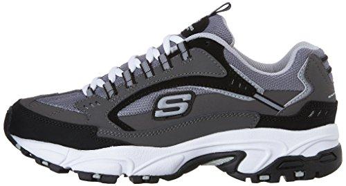US Men's 11 Skechers Cutback M Charcoal Lace Nuovo Sport Black Stamina Up Sneaker 75x4qFfS5w