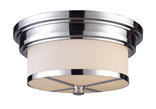 - Elk 15015/2 Flush Mount 2-Light in Polished Chrome