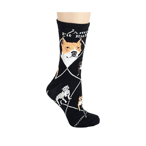Wheelhouse Designs American Pit Bull Terrier Black Socks, Large 10-13 2