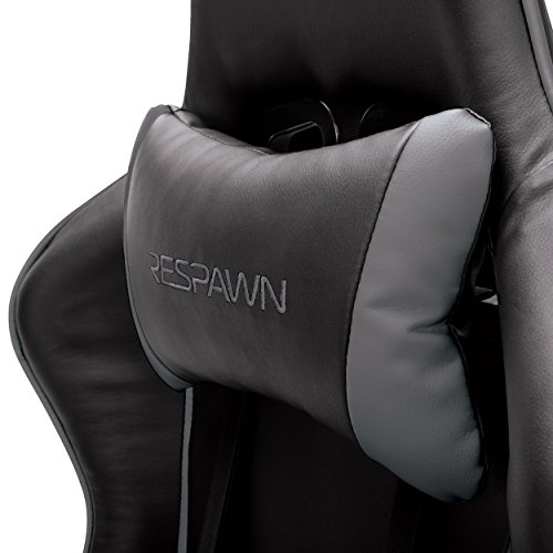 RESPAWN-105 Racing Style Gaming Chair - Reclining Ergonomic Leather Chair, Office or Gaming Chair (RSP-105-GRY) by RESPAWN (Image #3)