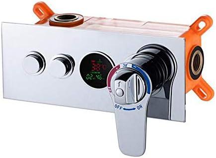 混合サーモスタットシャワーバルブLED温度デジタル表示隠蔽シャワー壁に取り付けられたバルブ蛇口HW-9812