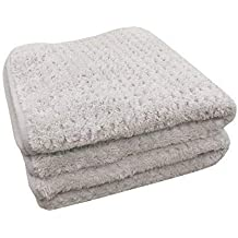 THE RAG COMPANY (2-Pack 20 in. x 40 in. Platinum PLUFFLE Professional Korean 70/30 490gsm Plush Waffle Microfiber Detailing Drying Towels
