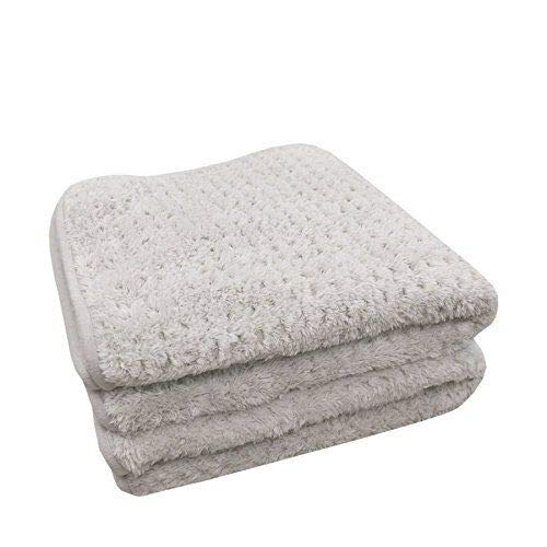 Clog Suede Microfiber (THE RAG COMPANY (2-Pack) 20 in. x 40 in. PLATINUM PLUFFLE Professional Korean 70/30 490gsm Plush Waffle Microfiber Detailing Drying Towels)