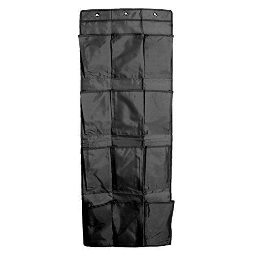 eDealMax Tissu Oxford Accueil 12 poches Porte Chaussures suspendues Trinket Organisateur sac de Rangement Noir