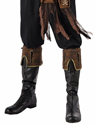Forum Novelties Pirate Brown Boot Cuffs -