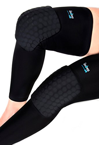 goodness-of-fit-compression-leg-sleeve-with-turtleback-knee-brace-pads-for-basketball-etc-black-x-la