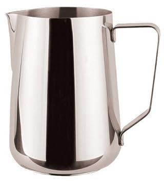 1 litro de acero inoxidable pulido leche jarra para café con ...