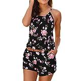HTDBKDBK Summer Dresses for Women, Bohemian Casual Sleeveless Printed Ankle Length Dress Party Dress Loose Beach Dress Black