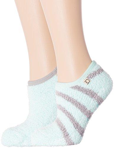 Female Style Mount - 2-Pairs Womens Noble Mount Fuzzy Mary Jane Style Slipper Socks - Set A1
