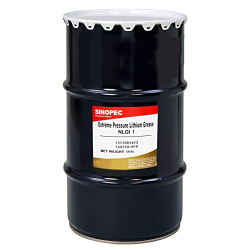 Sinopec EP1 Extreme Pressure Lithium Grease, Nlgi 1, 120 lb. by Sinopec
