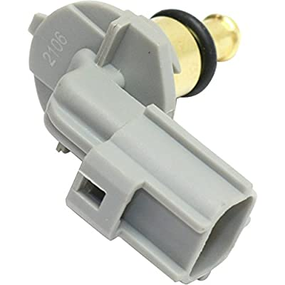 Coolant Temperature Sensor compatible with 2012 Ford Ford Focus Blade type 2-prong male terminal: Automotive