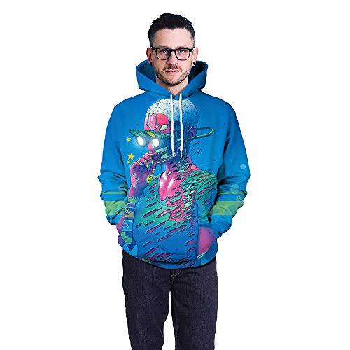 Unisex 3D Lovers Punk Print Sweatshirts Hooded Pullover