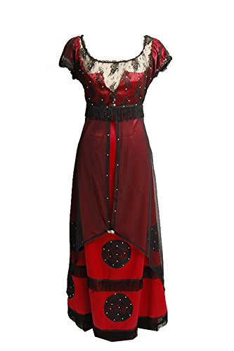 Titanic Costumes For Halloween - Titanic Rose Jump Dress Costume Victorian Halloween Outfit Uniform Large