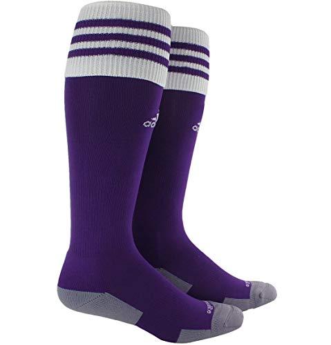 adidas Kids Unisex Copa Zone Cushion III OTC Sock (Toddler/Little Kids/Big Kids) Collegiate Purple/ White X-Small