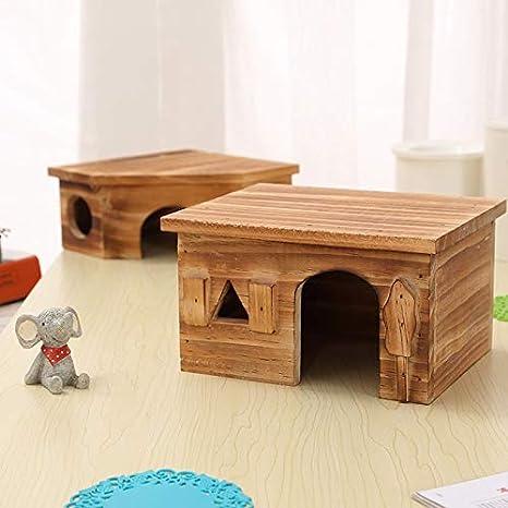 XIAOCONG Jaula para Mascotaanimal Mascota Hamster Casa Cama ...