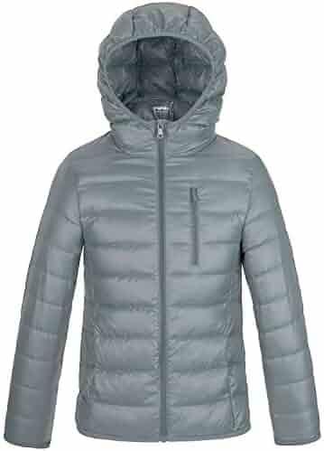 c74c9abb02dd3 Wantdo Boy s Ultra Lightweight Packable Puffer Down Jacket Hooded Winter  Jacket