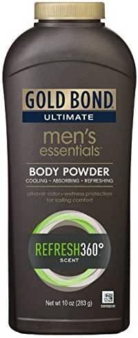 Gold Bond Ultimate Men's Essentials Body Powder, 10 oz., Pack of 2