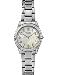 Timex Women's TW2P76000GP Classics Mother of Pearl Dial with Silver Stainless Steel Bracelet Watch