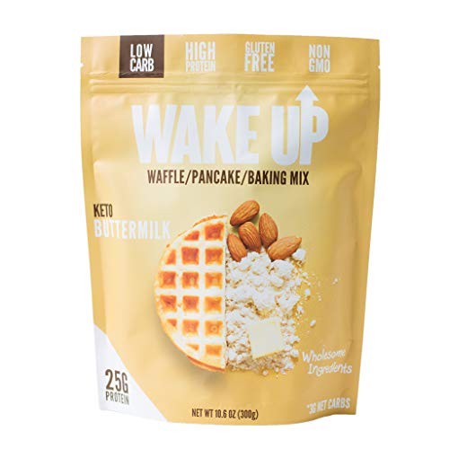 Wake Up Nutrition - Low Carb, 3 Net Carb, Gluten Free, Protein Waffle/Pancake/Baking Mix (Keto - Buttermilk)