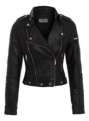 Black Giacca Donna Ss7 Giacca Ss7 Biker EwqXZYv