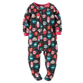 ef5c5f80e2 Carter s Big-girls  1 Pc Fleece Footed Blanket Sleeper Pajamas (4
