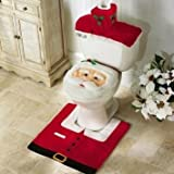 Best Christmas Decors - Oplaza Santa Toilet Seat Cover and Rug Sets Review
