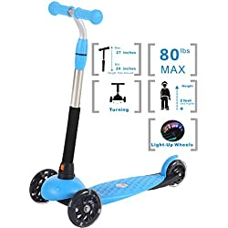 Voyage Sports Toddler Scooter for Kids, Kick Scooter for Kids, 3 Wheel Scooter for Boys and Girls(Blue)