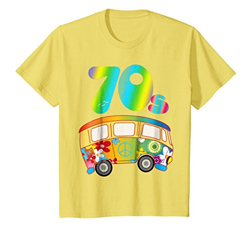 Kids COOL FUNKY 70s Hippie Bus Shirt Party Outfit Toddler Gift 8 Lemon -