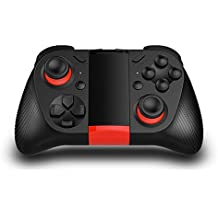 TNP Bluetooth Game Controller Wireless Gamepad Joypad Joystick with Phone Clip for Android Samsung S7 S6 Edge Note 5 Nexus LG Smartphone Tablet Emulator Gear VR, Windows PC via BT HID Protocol